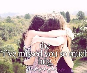 hug, text, and friends image