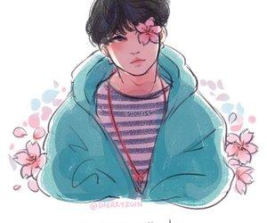 Yoongi | fanart pastel Via twitter: @koumomochii