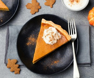 food, pie, and pumpkin image