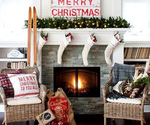 christmas, holidays, and house decorating image