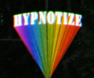 hypnotize, rainbow, and grunge image