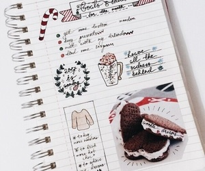 christmas, winter, and bullet journal image
