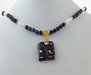 etsy, black necklace, and animal pendant image