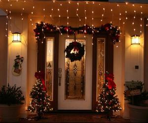 christmas, decoration, and house image