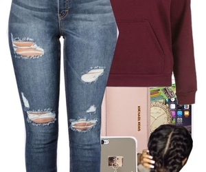 outfit, braids, and sweater image