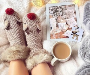 coffee, winter, and christmas image