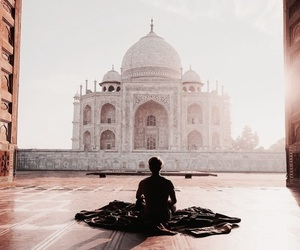 travel, taj mahal, and photography image