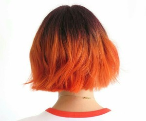 hair, girl, and orange image