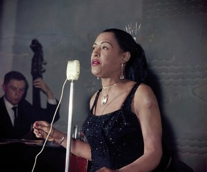 billie holiday, jazz, and portrait image