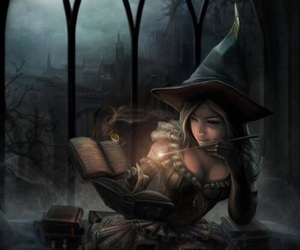 art, fantasy, and witch image