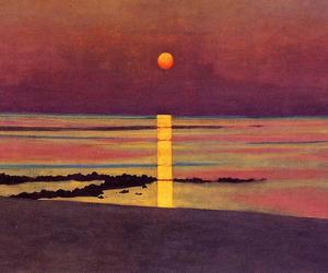 art, sunset, and painting image