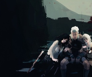 ciri, geralt, and the witcher image