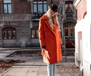 autumn, orange, and coat image