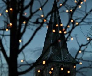 light, winter, and night image