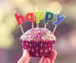 happy, cupcake, and birthday image