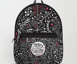 backpack, bag, and winter holidays image