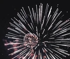 fireworks, dark, and night image