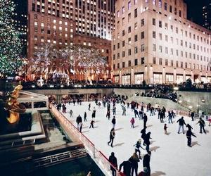 winter, christmas, and new york image