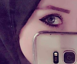 eyes, حجاب, and hijab image