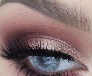 eyes, eyebrow, and makeup image