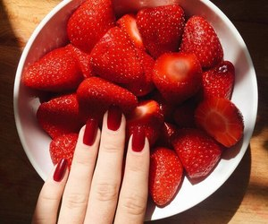 red and strawberry image