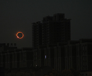 dark, eclipse, and moon image