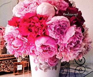 peonies, birthday, and chanel image