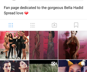 fan page and bella hadid image
