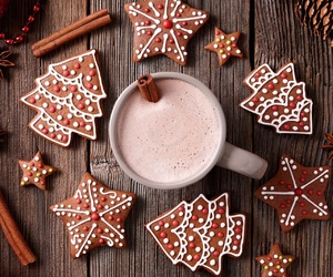 Cookies, drinks, and winter image