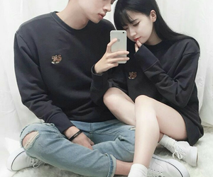 boy and girl, korea, and korean style image
