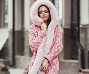 pink, winter fashion, and fall image