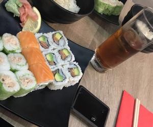 restaurant, sushi, and sushi time image