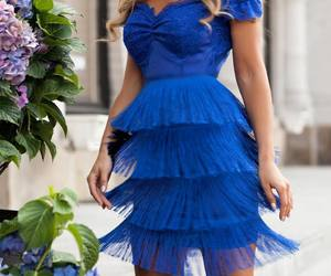 pretty blue fashion dress image