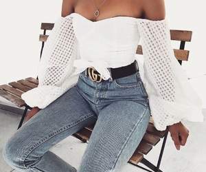 beauty, clothes, and jean image