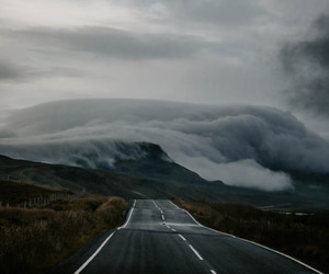 mountains, road, and photography image