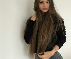 goals, long hair, and pretty girl image