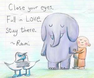 Buddha, Rumi, and love image