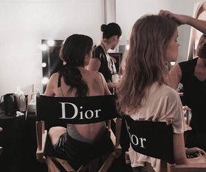dior, model, and makeup image