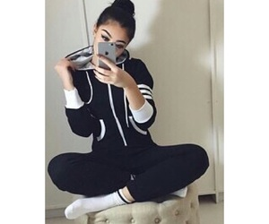 iphone, outfit, and girl image