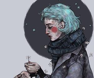 art, alternative, and blue image
