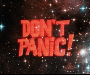 panic and don't panic image