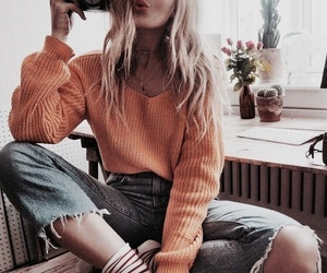 accesories, jeans, and jumper image