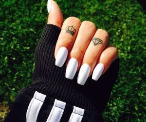 fashion, nails, and matte image