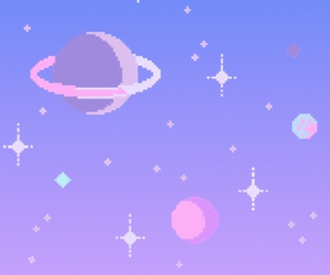 space, kawaii, and pixel image