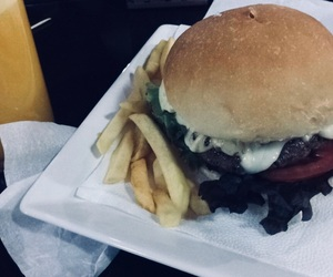food, juice, and fries image