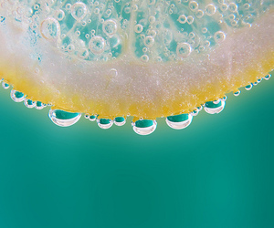 color, drops, and fruit image