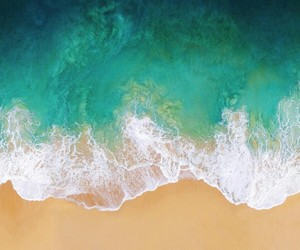 beach, blue, and sand image