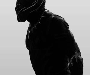 black panther, Marvel, and black image