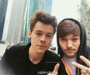louis, 1d, and harrystyles image