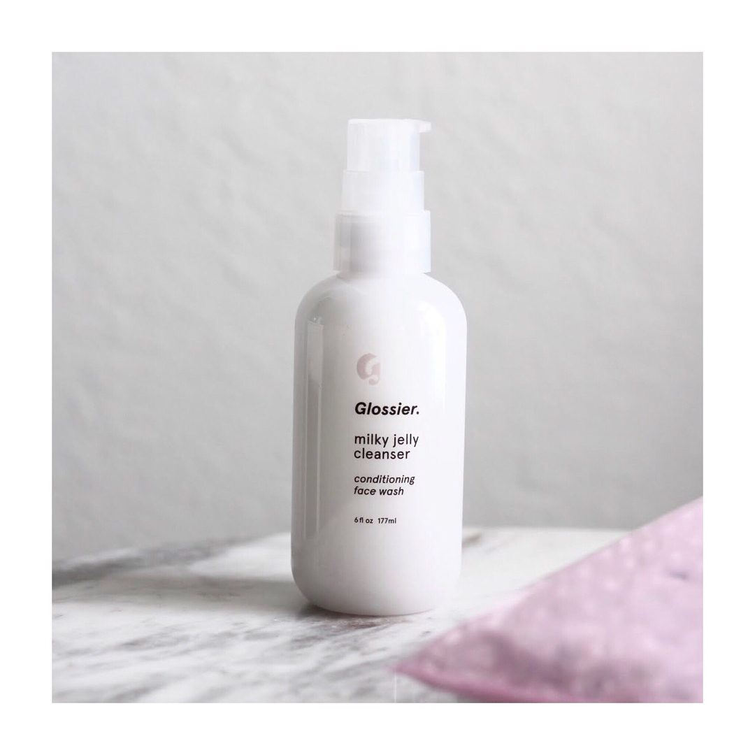 glossier and milky jelly cleanser image